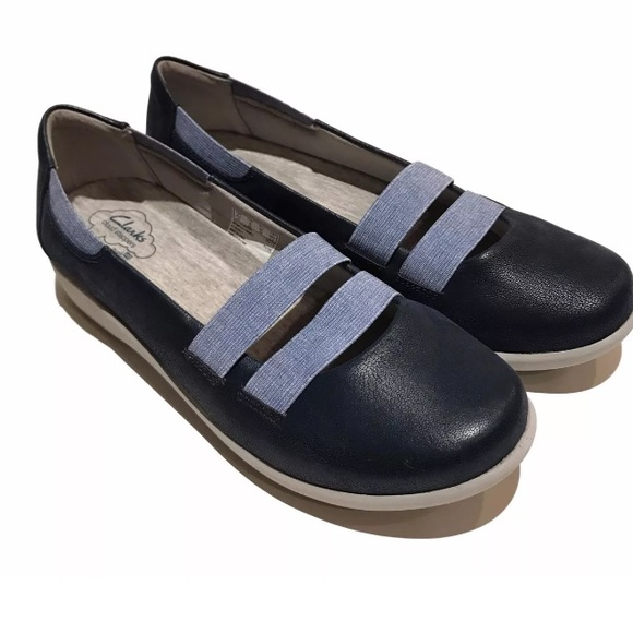 7960aa1f Clarks Blue Cloudsteppers Shoes Comfort Mary Jane